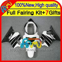 Black white 7gifts For HONDA CBR600F4 99-00 Fairings 21CL11 CBR 600F4 CBR600 F4 CBR 600 F4 99 00 1999 2000 Fairing blk white