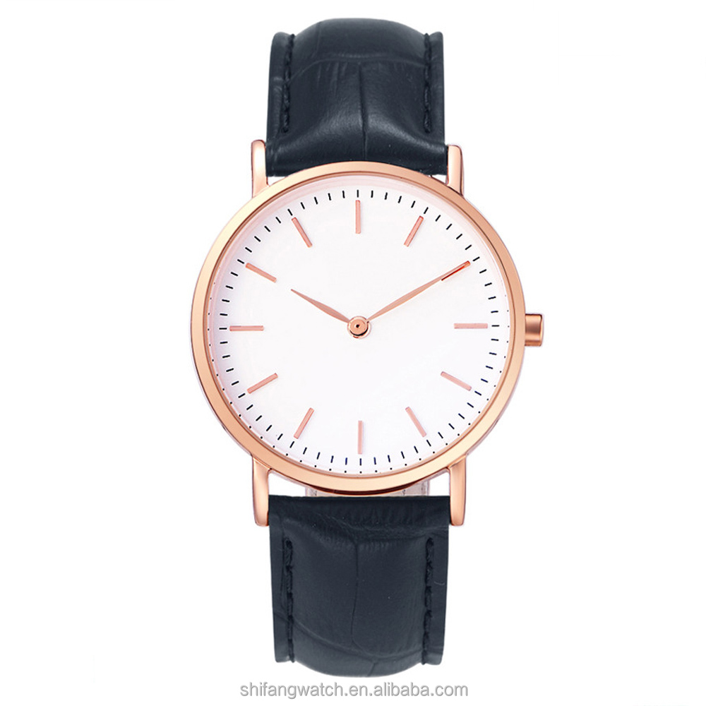 Ultra slim fashion vogue IP rose gold stainless steel women watch with GL20 Japan movt