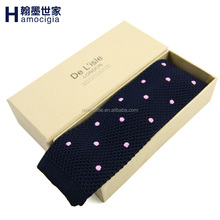 Wholesale High Quality Silk Knitted Necktie Embroider Logo Tie