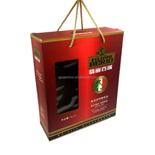 rope handle E flute corrugated board paper olive oil packaging box