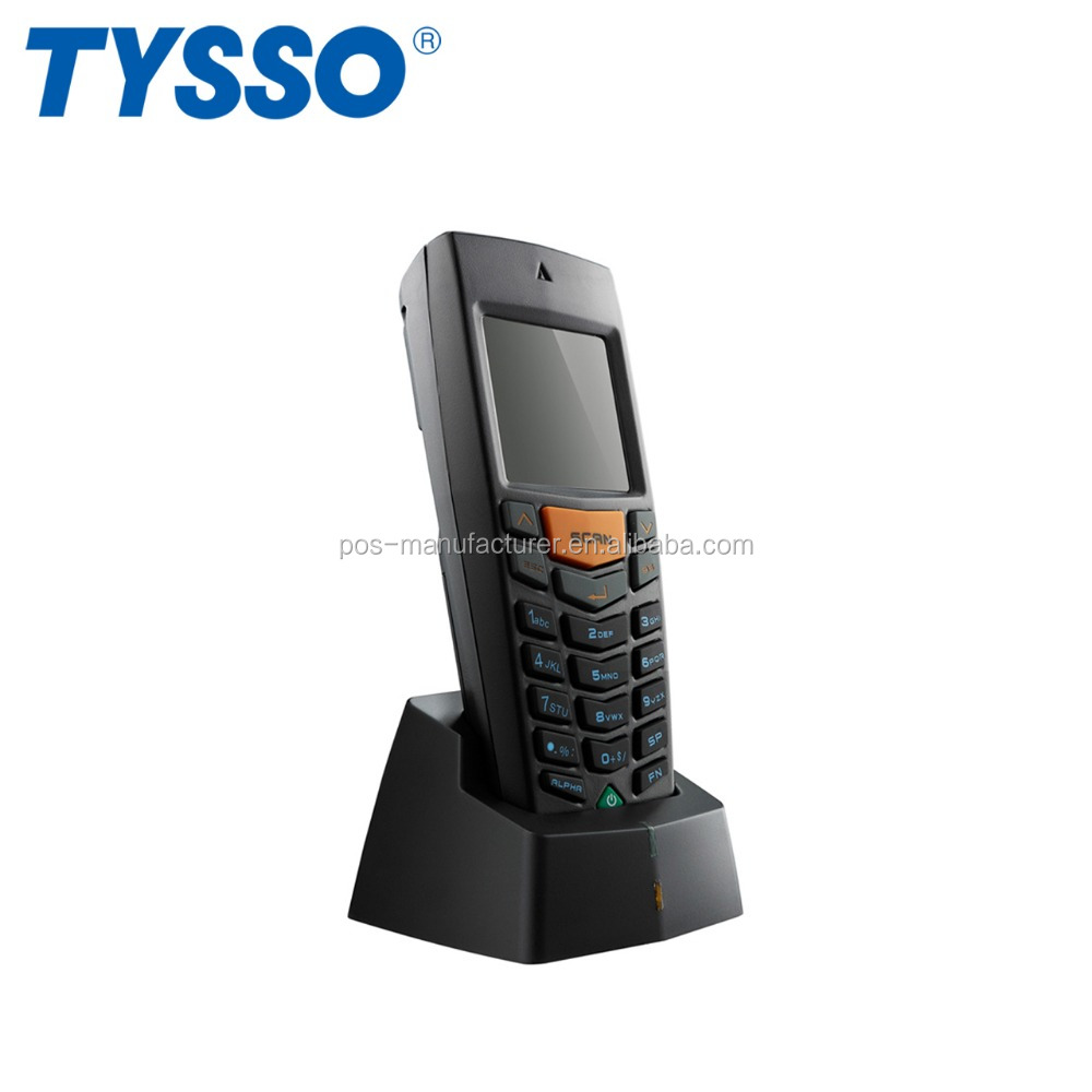 TYSSO Black Mobile Laser Handheld Data Collector for Convenient Store