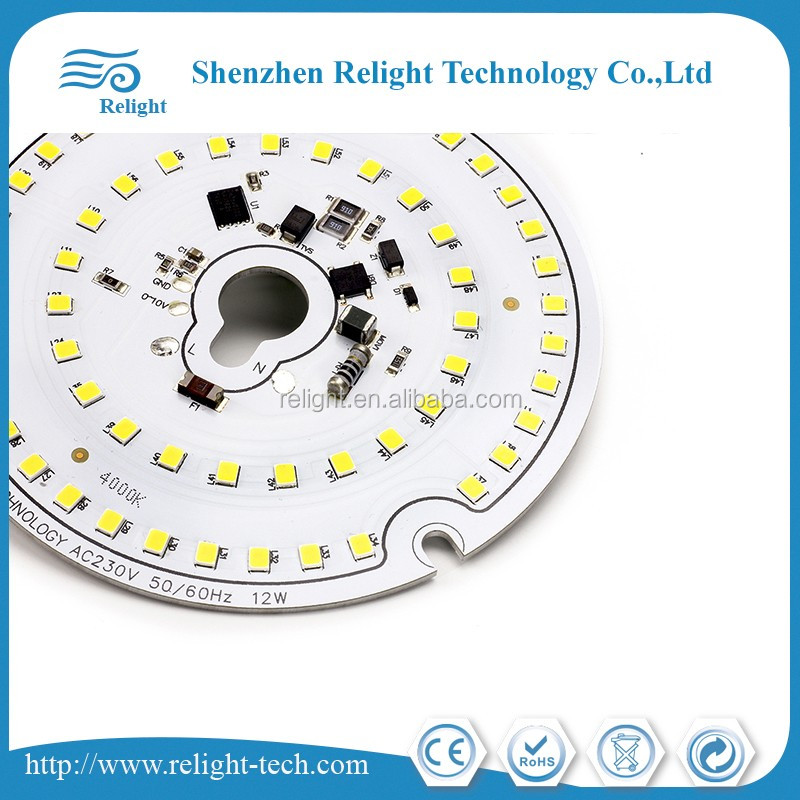 LED HV/AC dimmable module, Round SMD 3528, with dimming triac