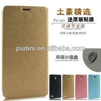 2014 Newest redmi note flip leather mobile phone flip case for xiaomi redmi