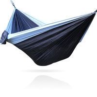 Camping Hammock with Mosquito Net Portable Lightweight Double Nylon Hammock, Best Parachute Hammock with 2 x Hanging Straps