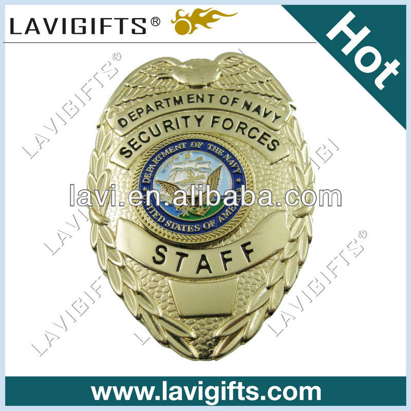 custom American brass metal badge