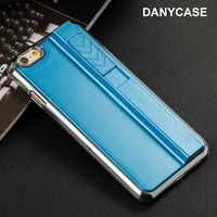Luxury PC plating hard back cover light up lighter phone case for iphone