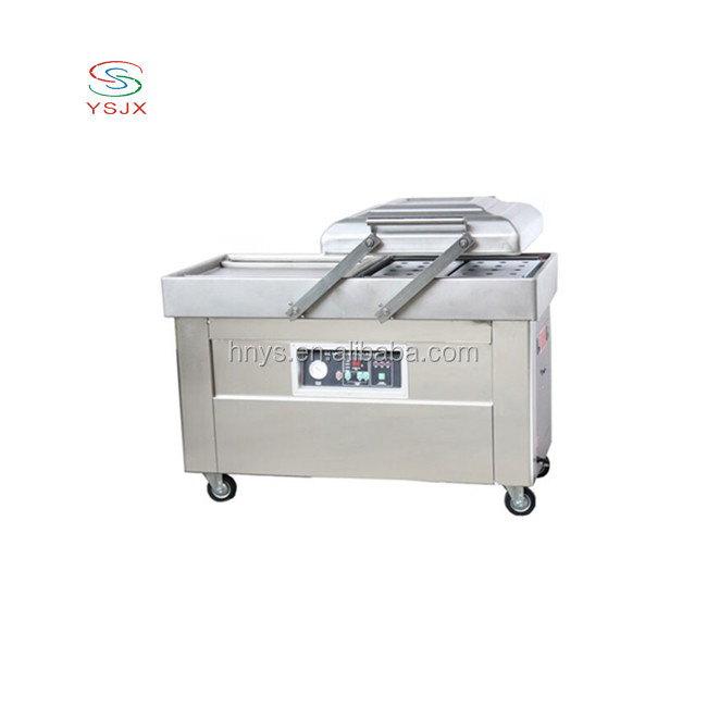 double chamber modified atmosphere thermoforming fresh fruit vacuum packing packaging machine for food