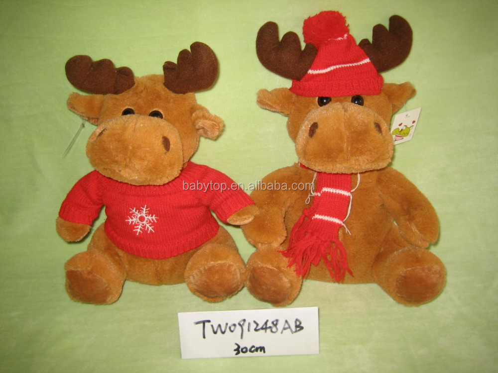 2017 creative elk elf red sleigh christmas plush toy TW091248AB