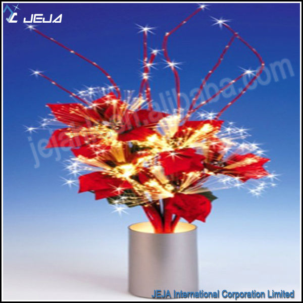 Fiber optic lamp with led stand color changing