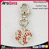 Made in china factory cheap heart silver keychain