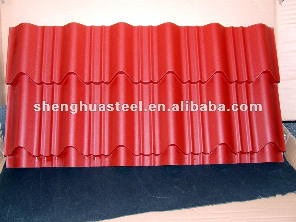 2012 New-style glazed steel roof tile