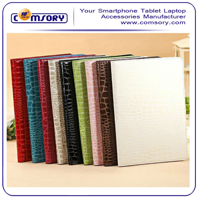 Crocodile Pattern PU Leather Smart Cover Case Stand for the new Apple iPad Air / iPad 5th Generation
