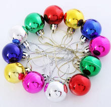 30mm christmas plastic small baubles for xmas tree decorations