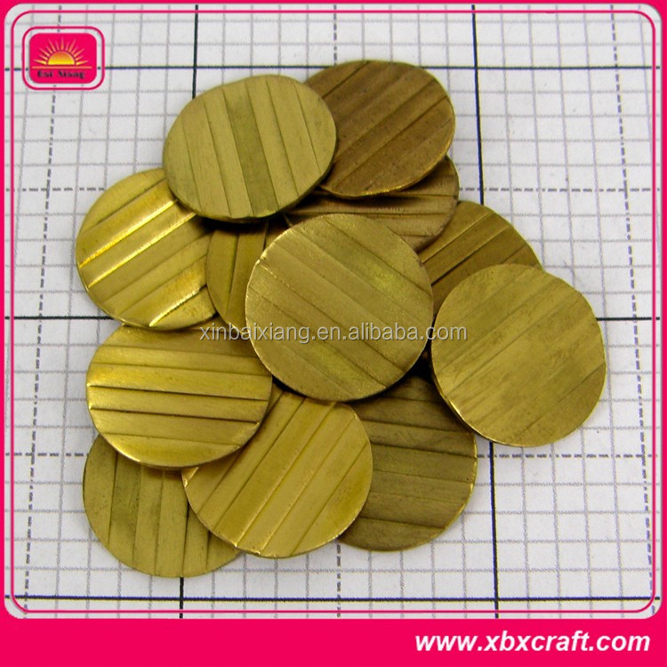 High quality customized antique brass stamped coins