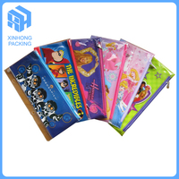 pvc stationary zipper bags for kids/cheap pvc pencil bags with full printing
