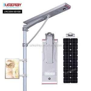 20w Integrated Solar Advertising LED Light Box with street light