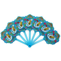 logo printed oem made promotional plastic pvc hand fan