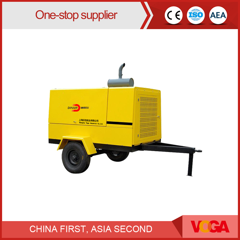 55 KW Dinair Screw Movable Type Air compressor Portable