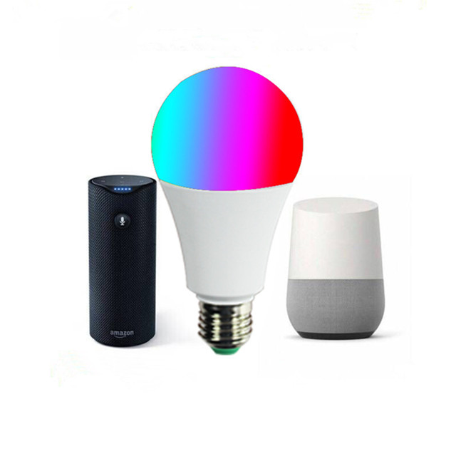 New 9W WIFI Smart Light RGBCW Tuya LED <strong>bulb</strong> with Amazon Alexa Google Home Control