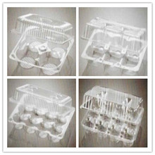 Clear plastic cupcake boxes with hanged lid SGS/FDA Approval