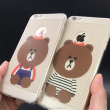 Teddy Bear Air Hole Hard PC Case For 7 7plus phone accessories 2017