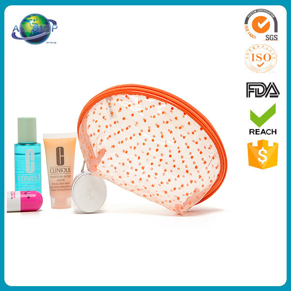 Orange shell shape luxury sample skincare cosmetic packaging