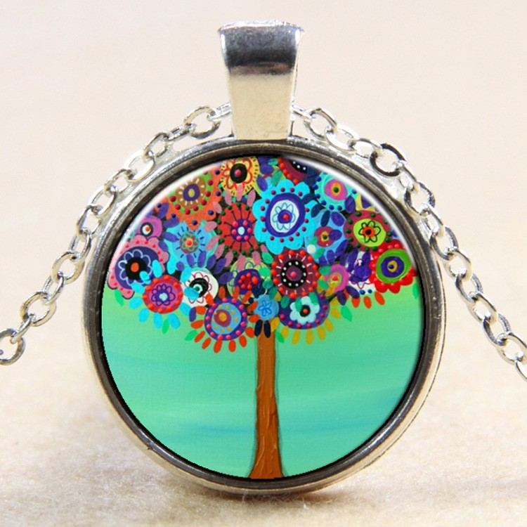 <strong>1</strong> Dollar Item The Tree Of Life <strong>A</strong> Tree Flowers Vintage Necklace Time Gems Pendants