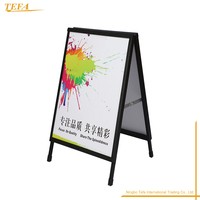 Double Side Black Board Aluminum Pavement Sign