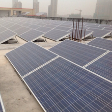 1mw Solar Panel System Structure for Flat Roof and Open Field Mounting , Solar Power System Brackets