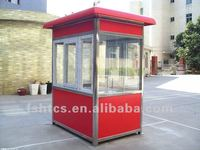 mobile steel frame sentry box covered by sandwich panel