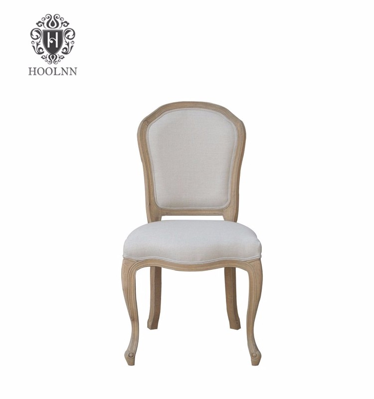 2017 Oak Wooden French Luxury Formal Home Furniture High Back Dining Room Chair