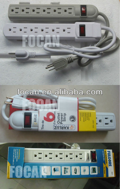 UL/cUL/ETL Power Strip, 3 Outlet Surge Protector, Power Tap with 2 Port USB for American Market