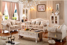 Popular french white furniture living room sectional sofa AET-870