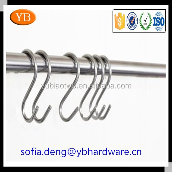 Professional custom metal/stainless steel/iron S hook, ISO9001 Passed, made in China