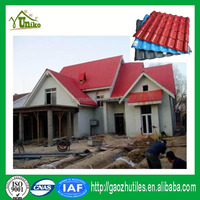 Synthetic resin ridge tiles spanish styple new plastic roof tile
