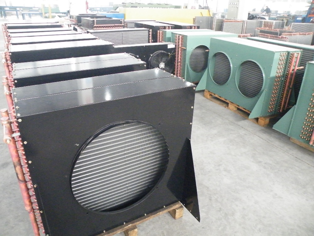 Fin type condenser,air cooled condenser fitting cold room use compressor condensing unit