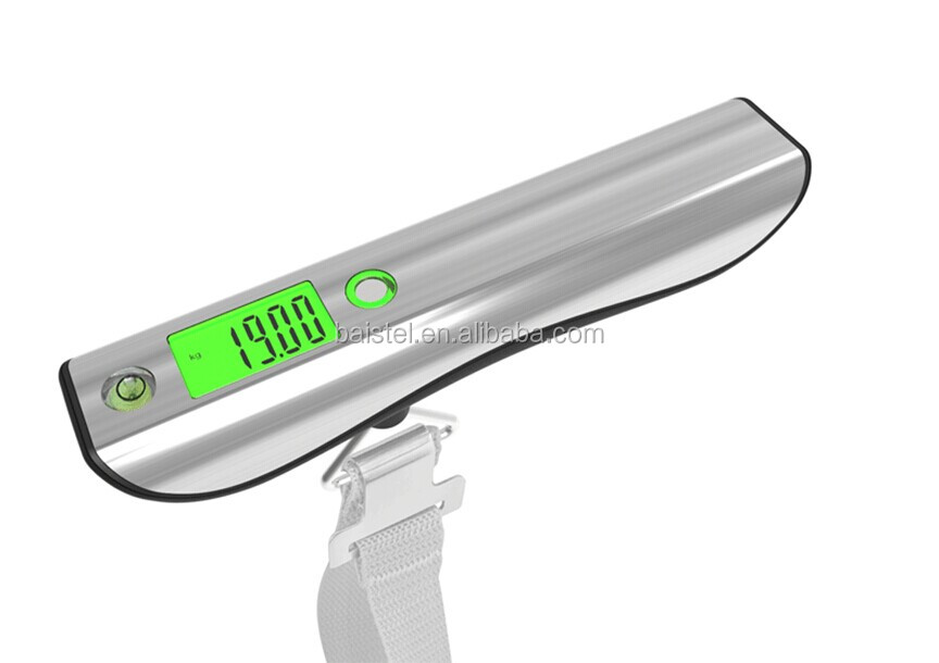 digital hand held luggage weighing scale 50kg/50g with 1M tape measure