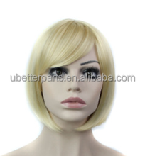 "10"" Female Short straight Bob Wig blond color Heat Resistant Realistic Wig African American Wig For Black Women"