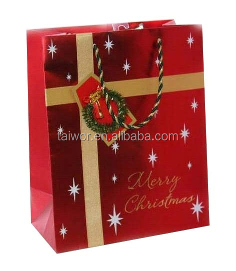 Customized Packaging Bag Christmas Decorative Paper Bag Made In China
