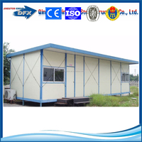 Low cost Light steel prefabricated a frame homes kit home