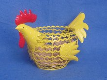 2011 New Decorative Metal Chickens container