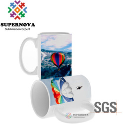 Supernova White Ceramic Sublimation Coffee Mug 11oz, Blank Coffee Mug, Sublimation Blanks