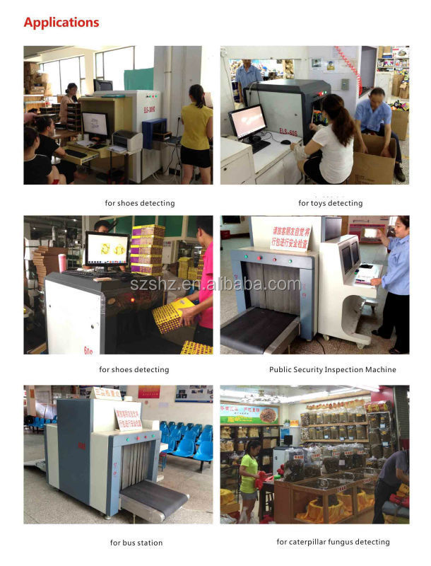 High quality images 0.22m/s Conveyor Speed Simple control X-ray luggage scanner TS-100100