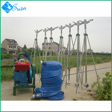 2017 new hot sale small scale farm agricultural irrigation sprinkler system machine with rotation sprinkler guns
