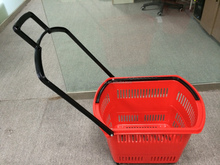 Shopping Basket with Wheels flexible garden plastic basket with handle