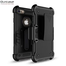 NEW PC+TPU Holster Kickstand 3in1 Heavy Duty Armor Robot Mobile Phone Case For iPhone 7/8