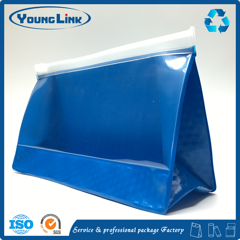 Popular materials Customized decorative printed pvc ziplock bag