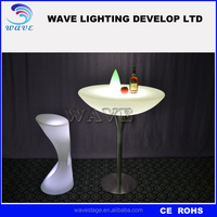 PE plastic (NOT ACRYLIC) LED table party bar furniture coffee table cocktail table