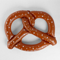 Plastic inflatable giant pretzel pool float