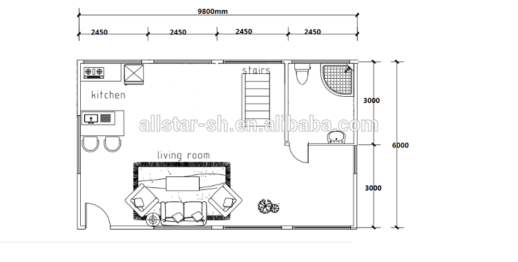 High Quality Manufacturer Double Layer  Container Houses Prefeb Homes